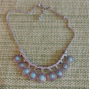 Lucky Brand Silver and Turquoise necklace